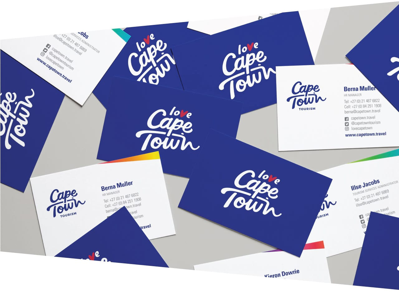 Cape Town Tourism brand Case study business cards
