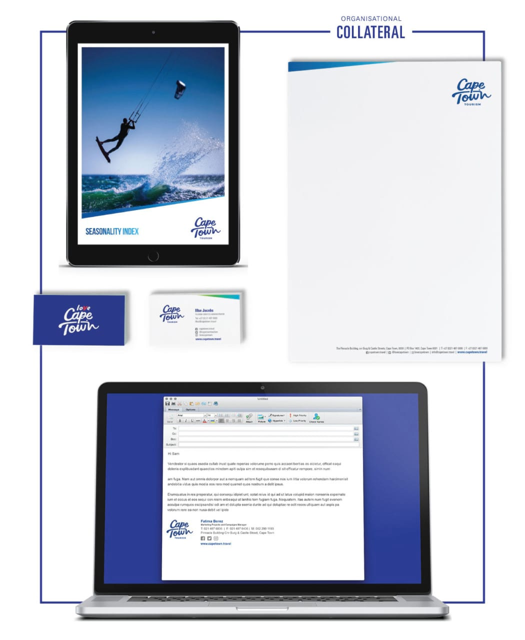 Cape Town Tourism brand Case study organisation collateral
