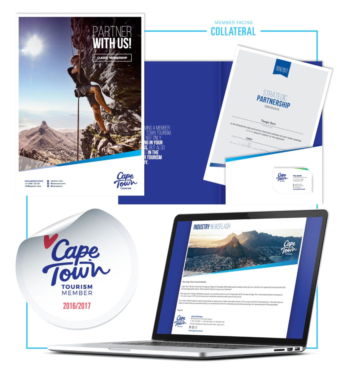 Cape Town Tourism brand Case study member collateral