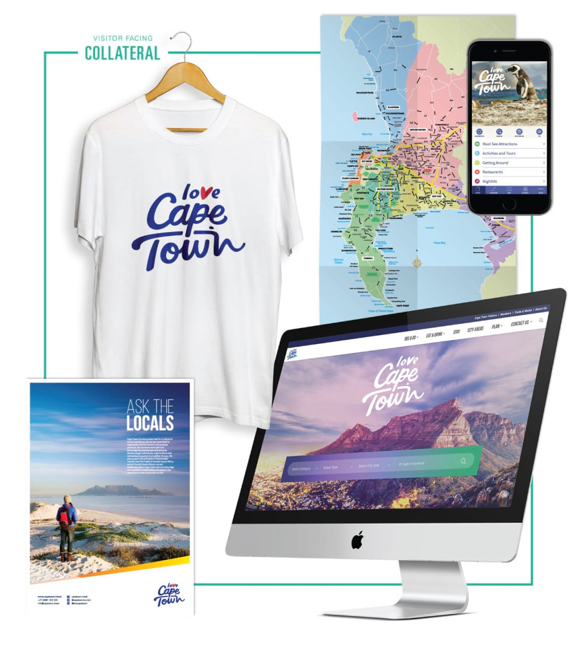 Cape Town Tourism brand Case study visitor collateral