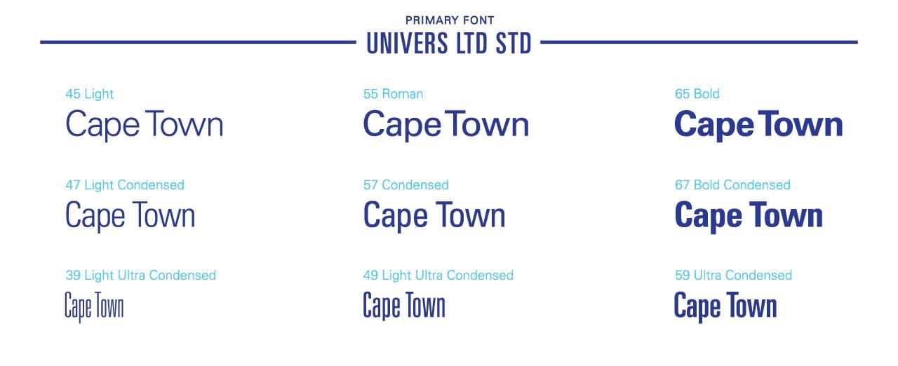Cape Town Tourism brand Case study font